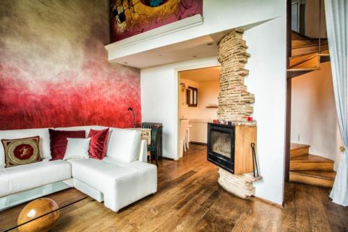 scala, cucina soggiorno con sofá Suite-IMG_8183